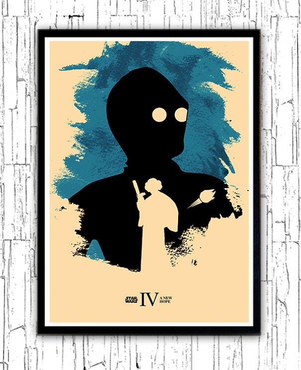 posters-cartazes-apaixonantes-star-wars-minimalistas-4-nova-esperanca