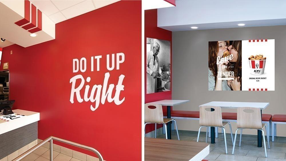 """Rebrand COMPLETO do KFC é implementado sem se importar com o """"cabeção"""". 16"""
