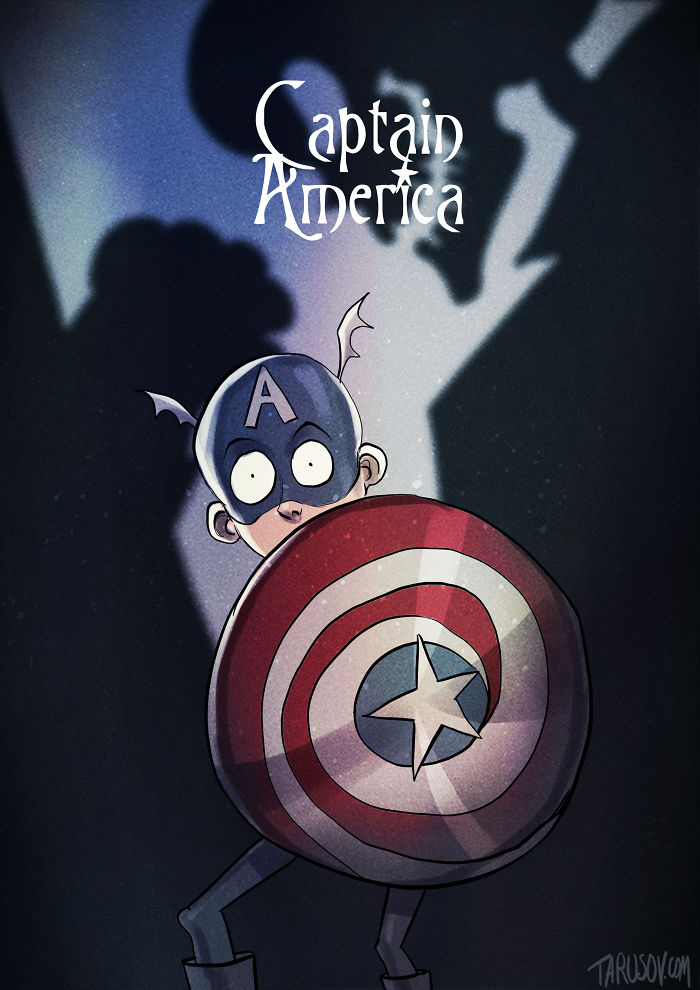 tim-burton-super-herois-capitao-america