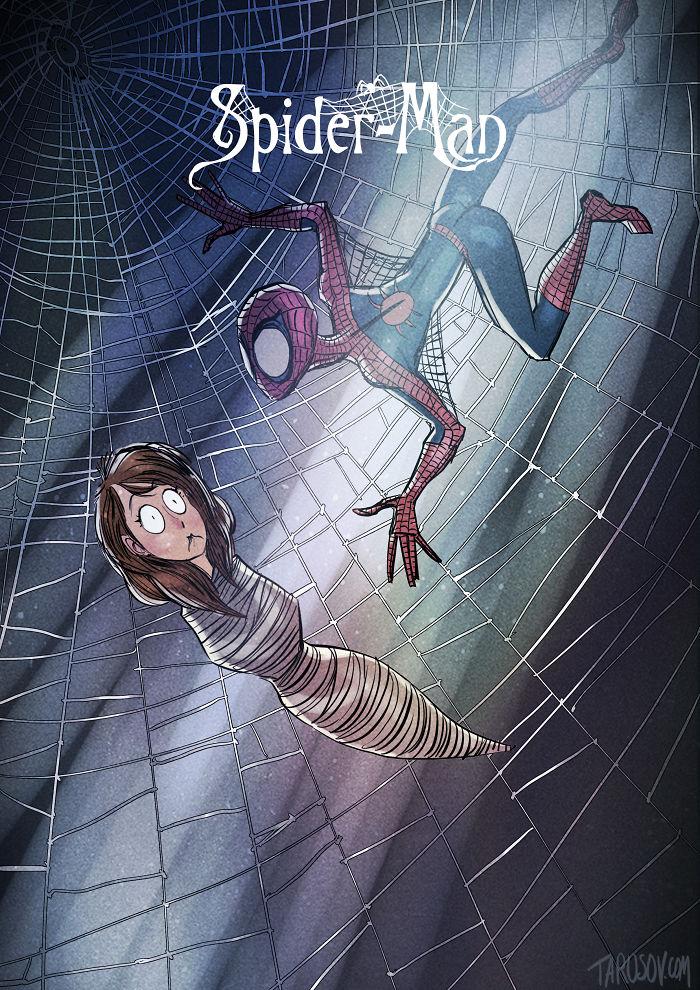 tim-burton-super-herois-homem-aranha-spiderman