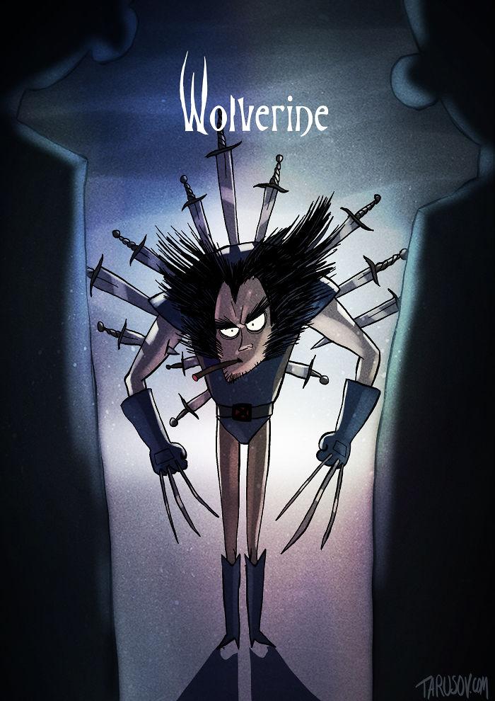 tim-burton-super-herois-wolverine